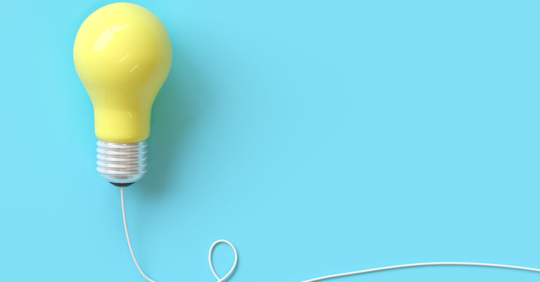 Procurement tips represented by lightbulb