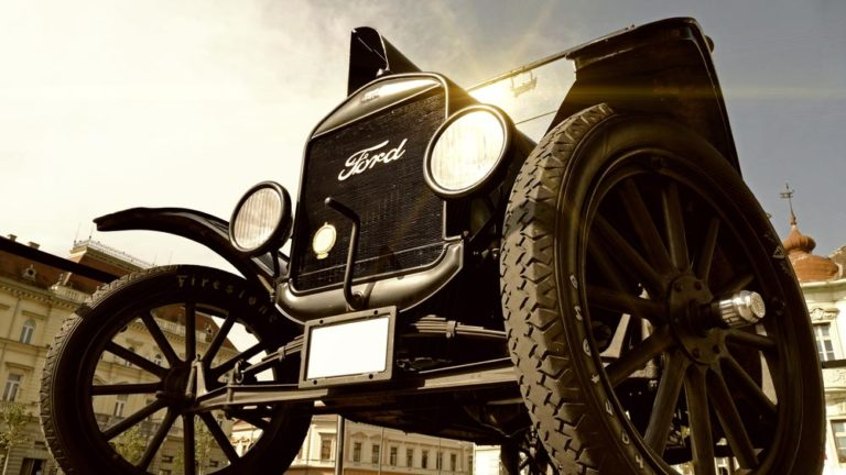 Model t ford car representing innovation and future