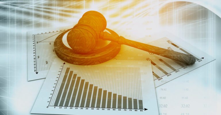 Legal Analytics represented by gavel