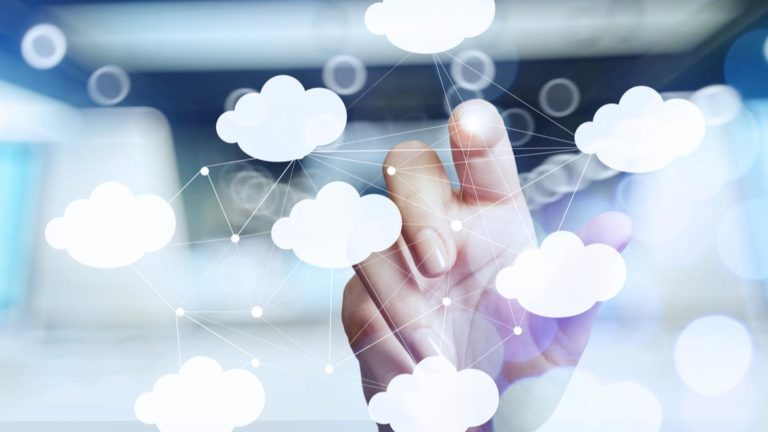 Moving contracts to the cloud with data connection points in between clouds