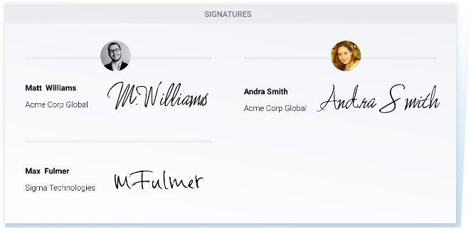 Concord Multiple eSignatures Feature