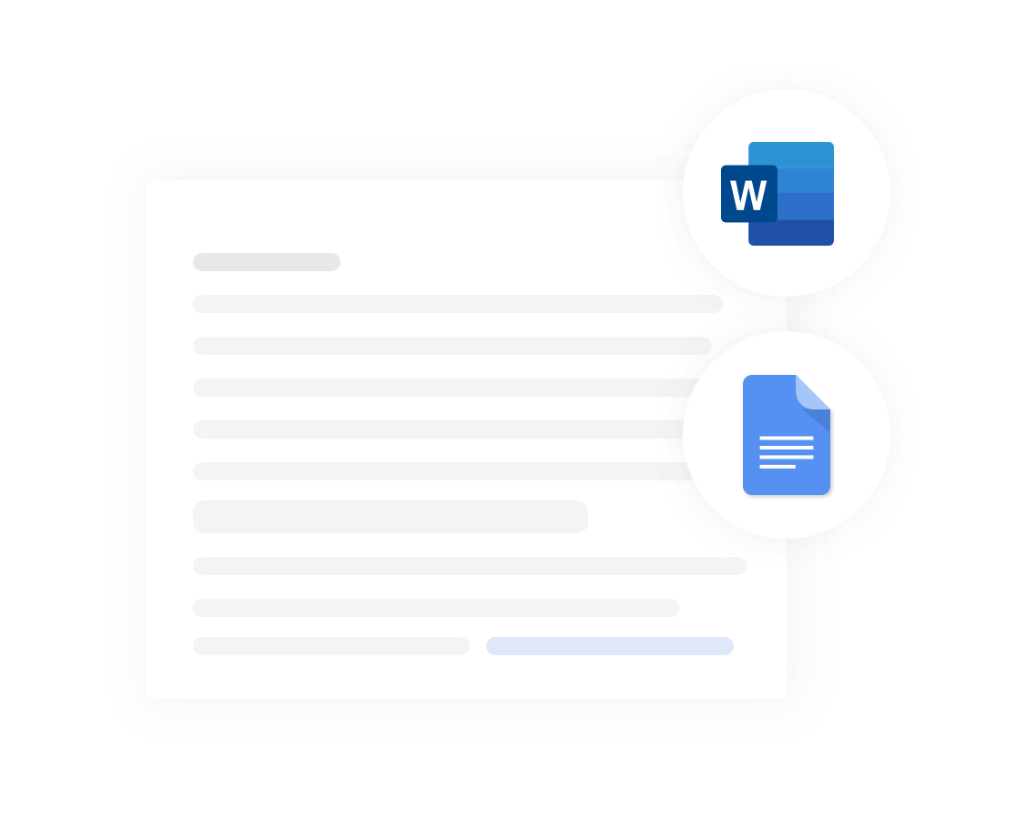 Concord software: Work the way you want: on Concord, Word, or Google Docs