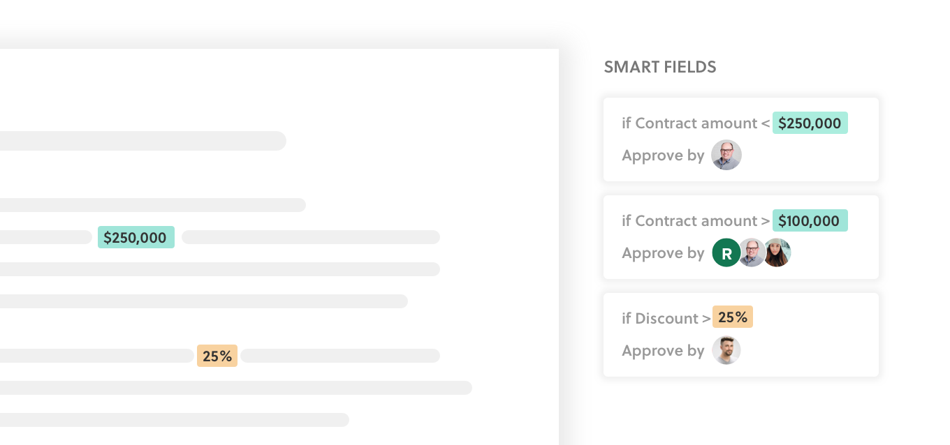 Concord Set conditions to automatically request the right approval