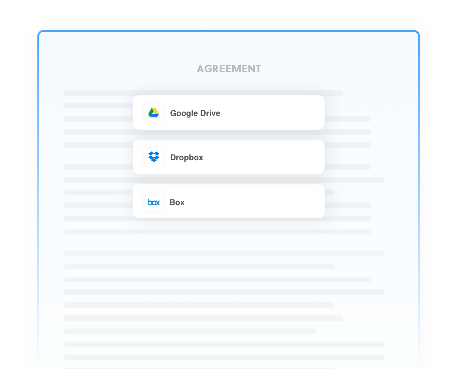 Concord: Automatically send documents to other storage systems
