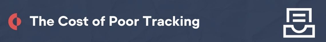The costs of poor document tracking include missed deadlines, lost revenue, inefficient work time, and errors.
